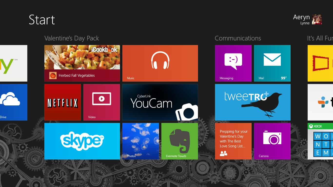 Organized Apps on Windows 8