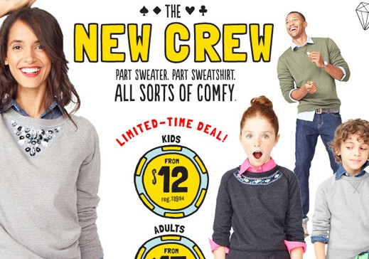 Old Navy New Crew Sale