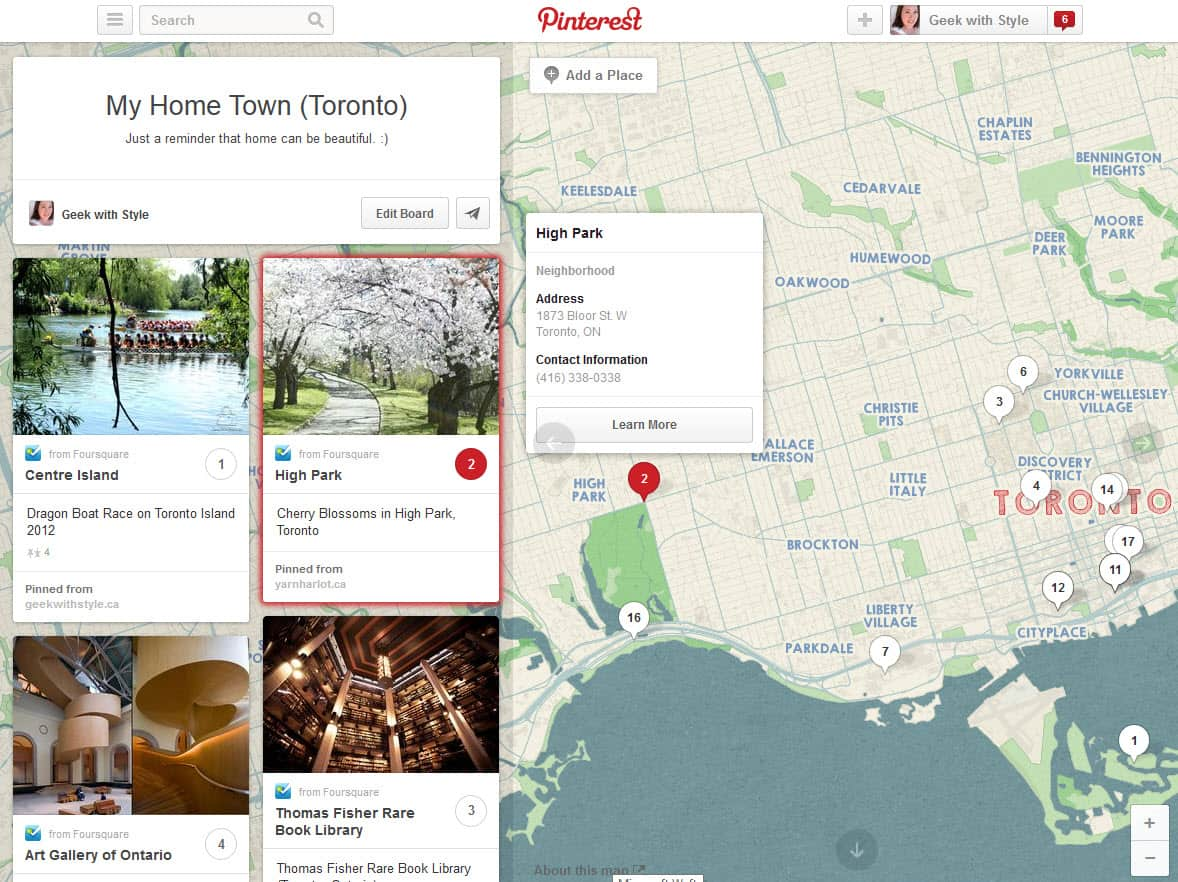 Pinterest Now Gets You on the Map