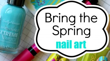 I Need Spring In My Life And On My Nails (nail art)