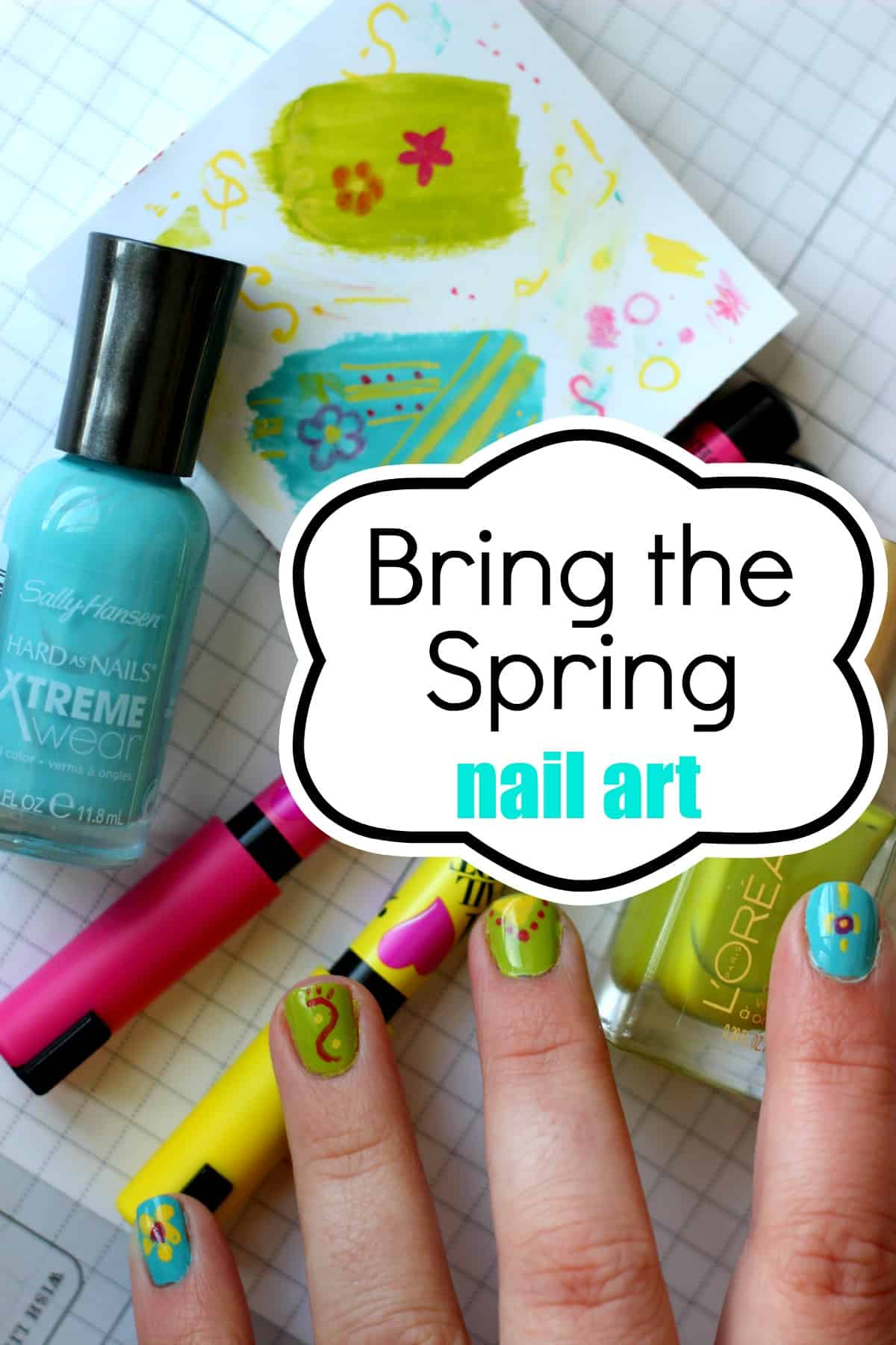 I Need Spring In My Life And On My Nails (nail art) 1