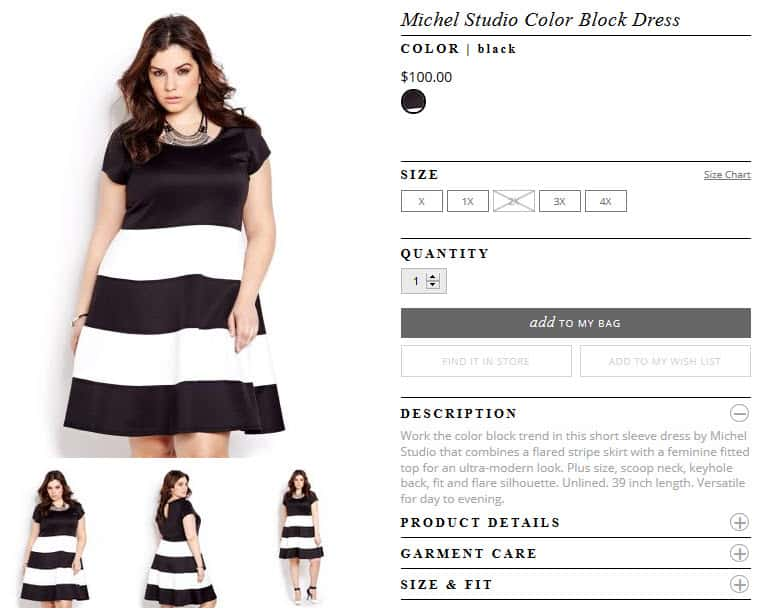 Michel Studio Color Block Dress