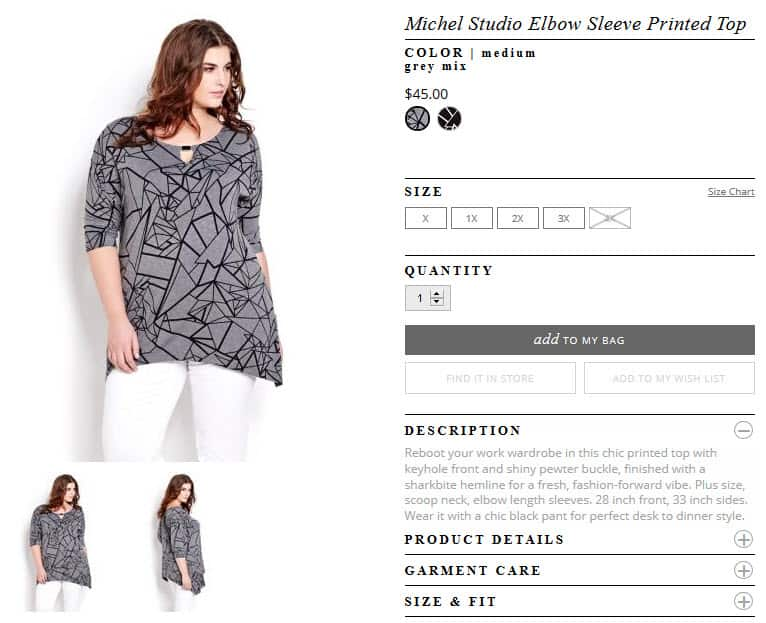 michel studio elbow sleeve printed top