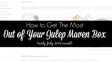 How to Get The Most of Your Julep Maven Box