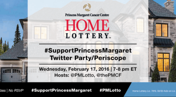 #SupportPrincessMargaret Twitter Party and Periscope on FEB 17, 2016 to Support Cancer Research