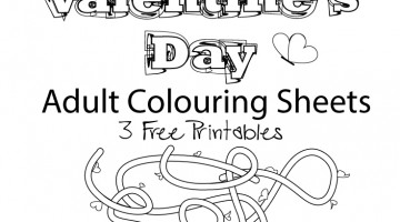 Free Printable Adult Colouring Sheets for Valentine's Day