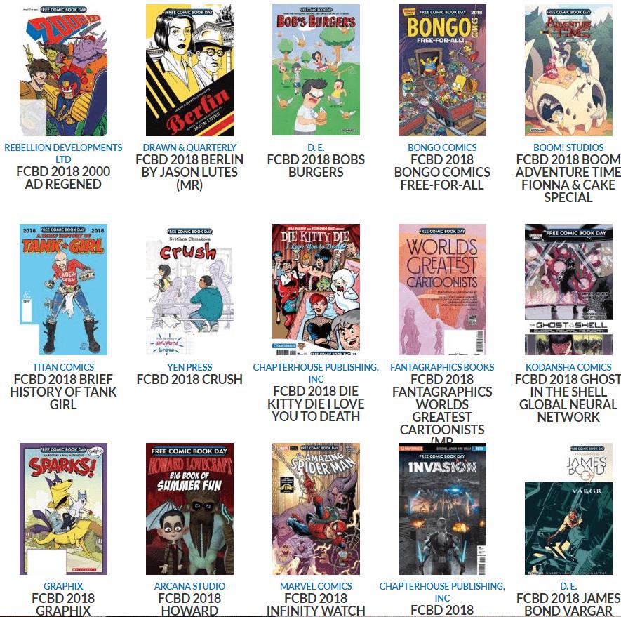 Free Comic Book Day Silver Level 2018