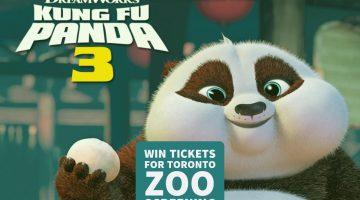 Enter to Win Tickets to Kung Fu Panda 3 Screening at Toronto Zoo