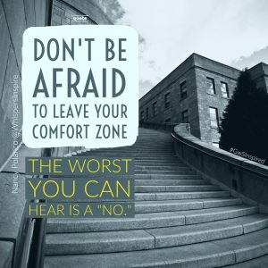 WhispersInspire - Dont be afraid to leave comfort zone