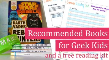 Summer Reading for Geek Kids and Reading Log Book Finding Printable Kit
