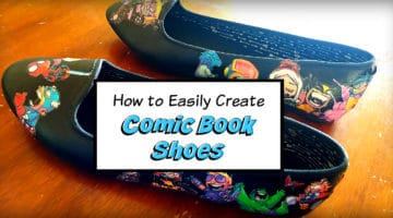 DIY: How to Make Comic Book Shoes