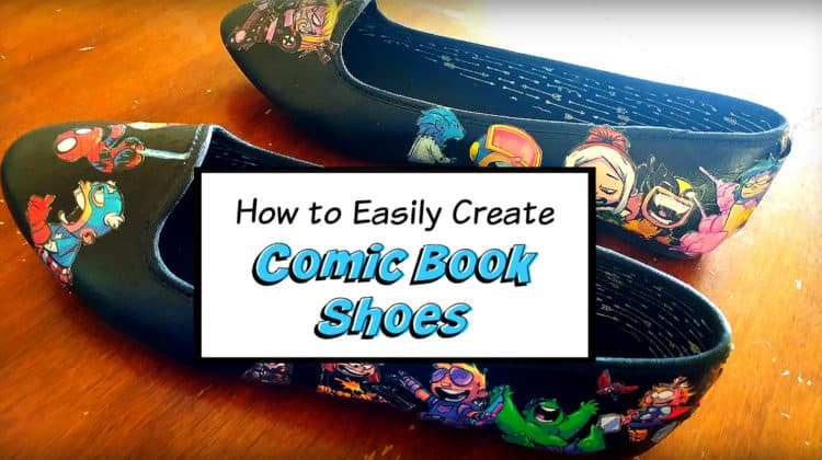 DIY How to Make Comic Book Shoes