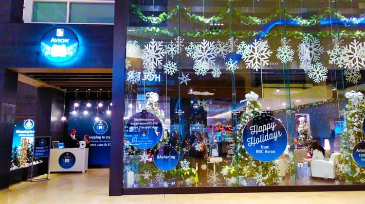 Store Front of RBC Avion Holiday Boutique at Yorkdale Toronto