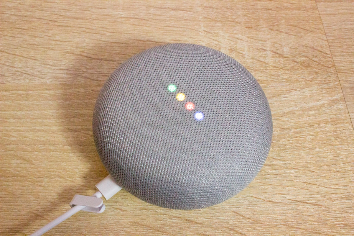 Google Home Mini in the Smart Home Bedroom