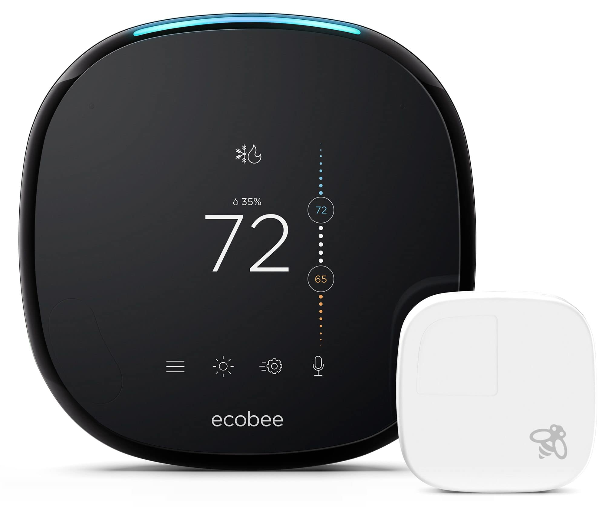 ecobee 4 smart home thermostat with sensor