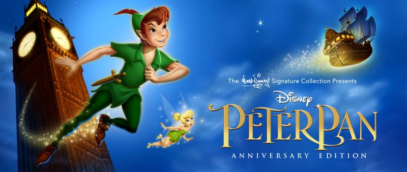 65th Anniversary Peter Pan Blu Ray DVD Home Entertainment