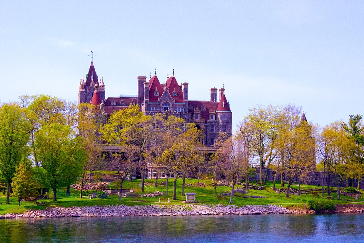 Boldt Castle on Heart Island 1000 Islands Perfect Day