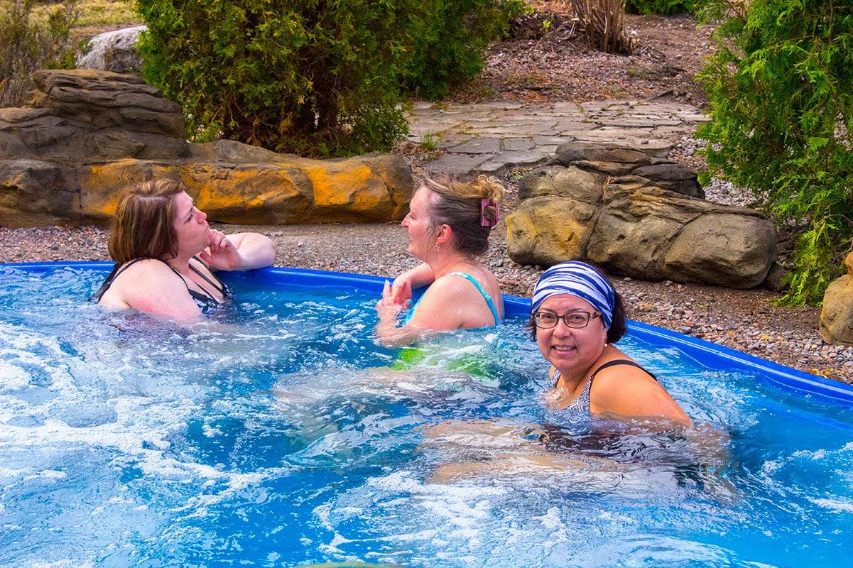 Chalet et Spa Nordic Spa Girlfriends Hot Tub Quebec Maritime Road Trip