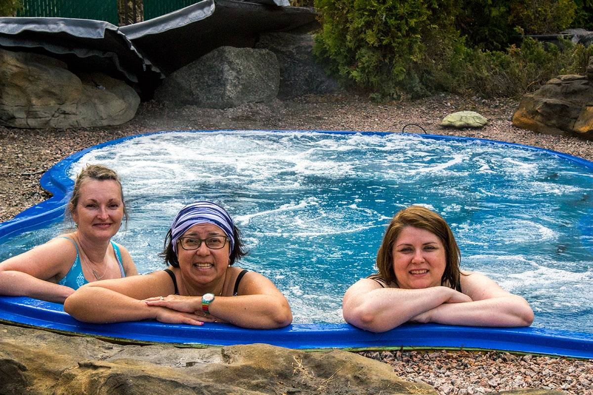 Chalet et Spa Nordic Spa Sauna Quebec Maritime Road Trip with Girlfriends
