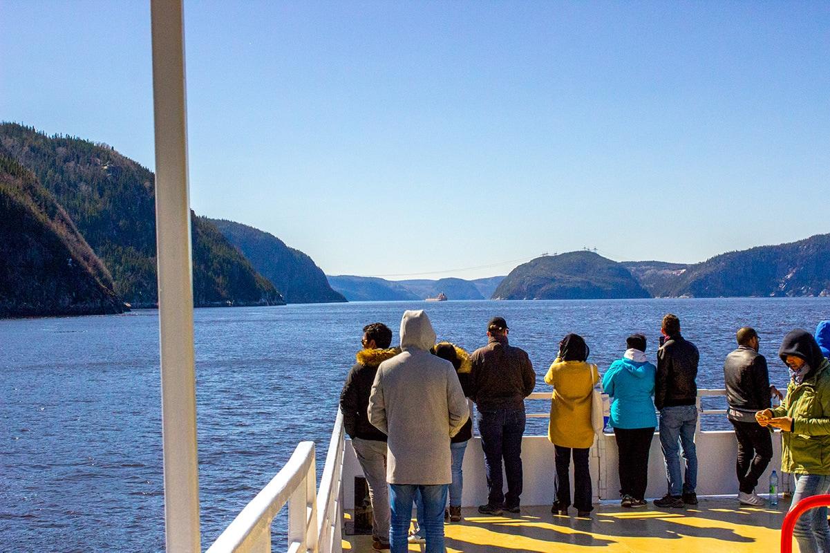 Croisieres AML comfortable 3-hour whale-watching tour St Lawrence Tadoussac Quebec