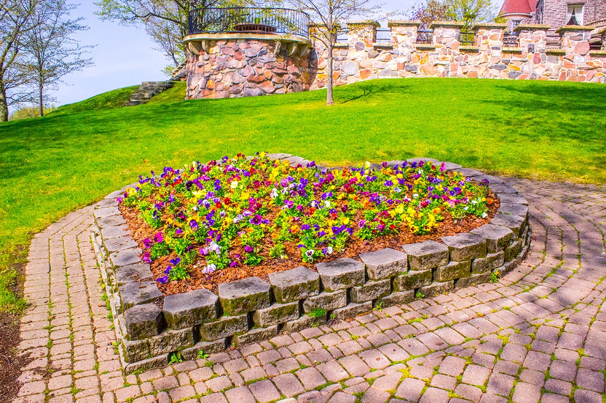 Heart Flower bed Boldt Castle on Heart Island 1000 Islands