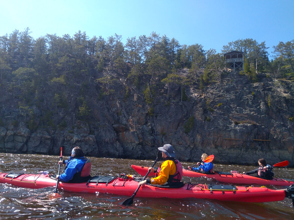 Kayaking Parc Aventures with OrganisAction in Saguenay River Quebec