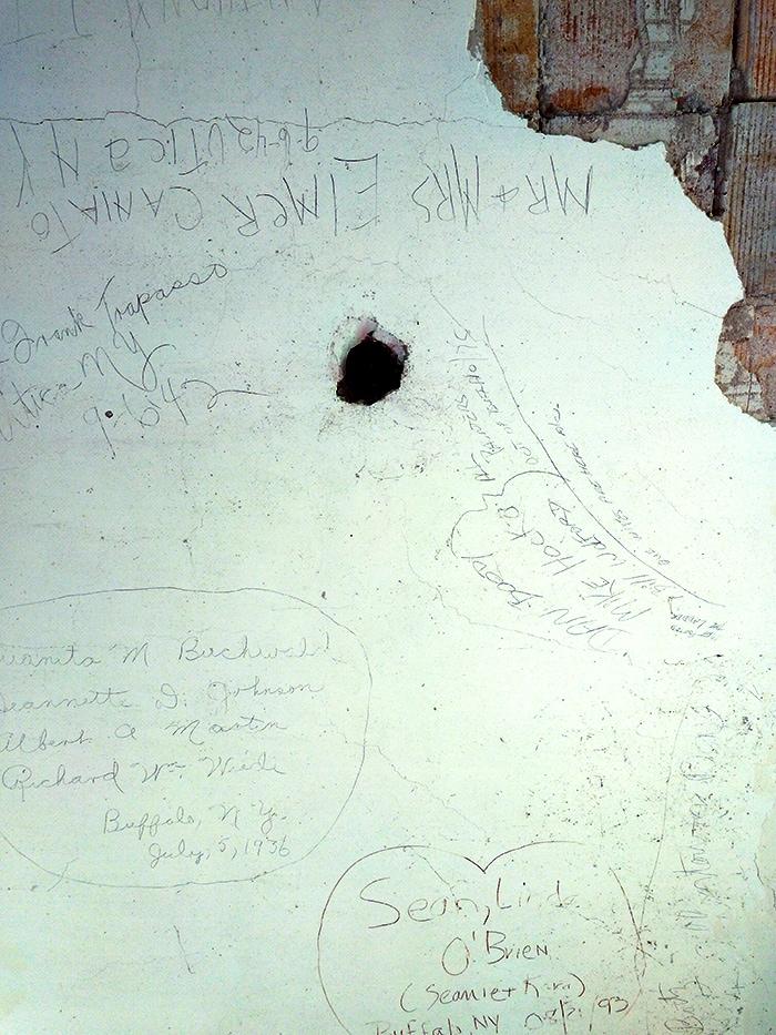 vandalism at boldt castle 1000 islands canada usa