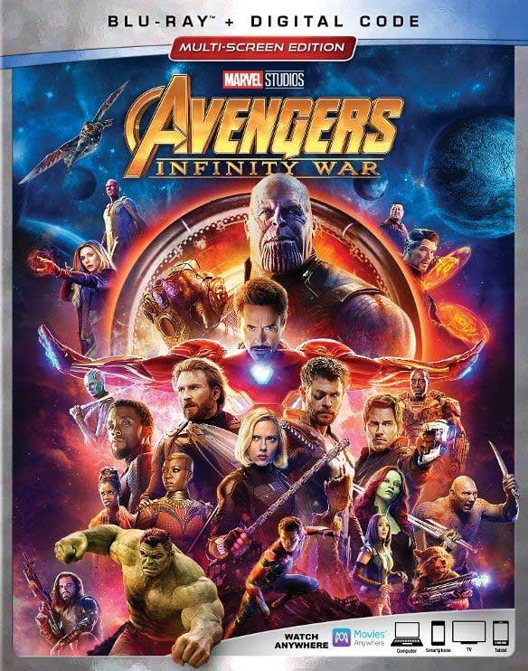 Purchase Avengers Infinity War Blu-Ray DVD with Digital Code at Amazon.