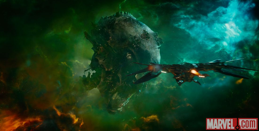 Guardians of the Galaxy - Celestial remains that became the mining colony Knowhere.