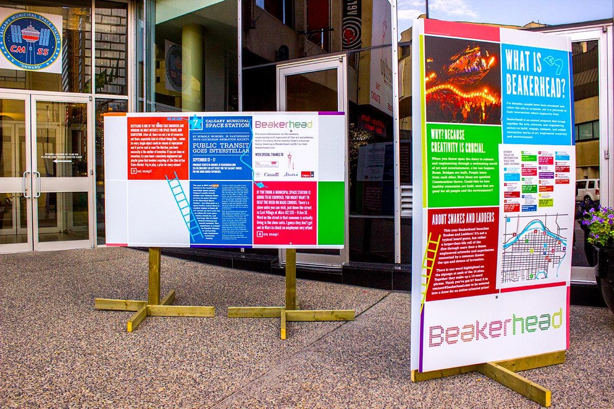 Calgary Beakerhead STEM Festival VR Tower Space Station signage
