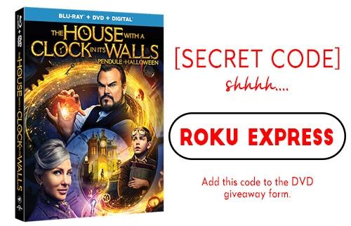 DVD Giveaway Secret Code 2: Roku Express
