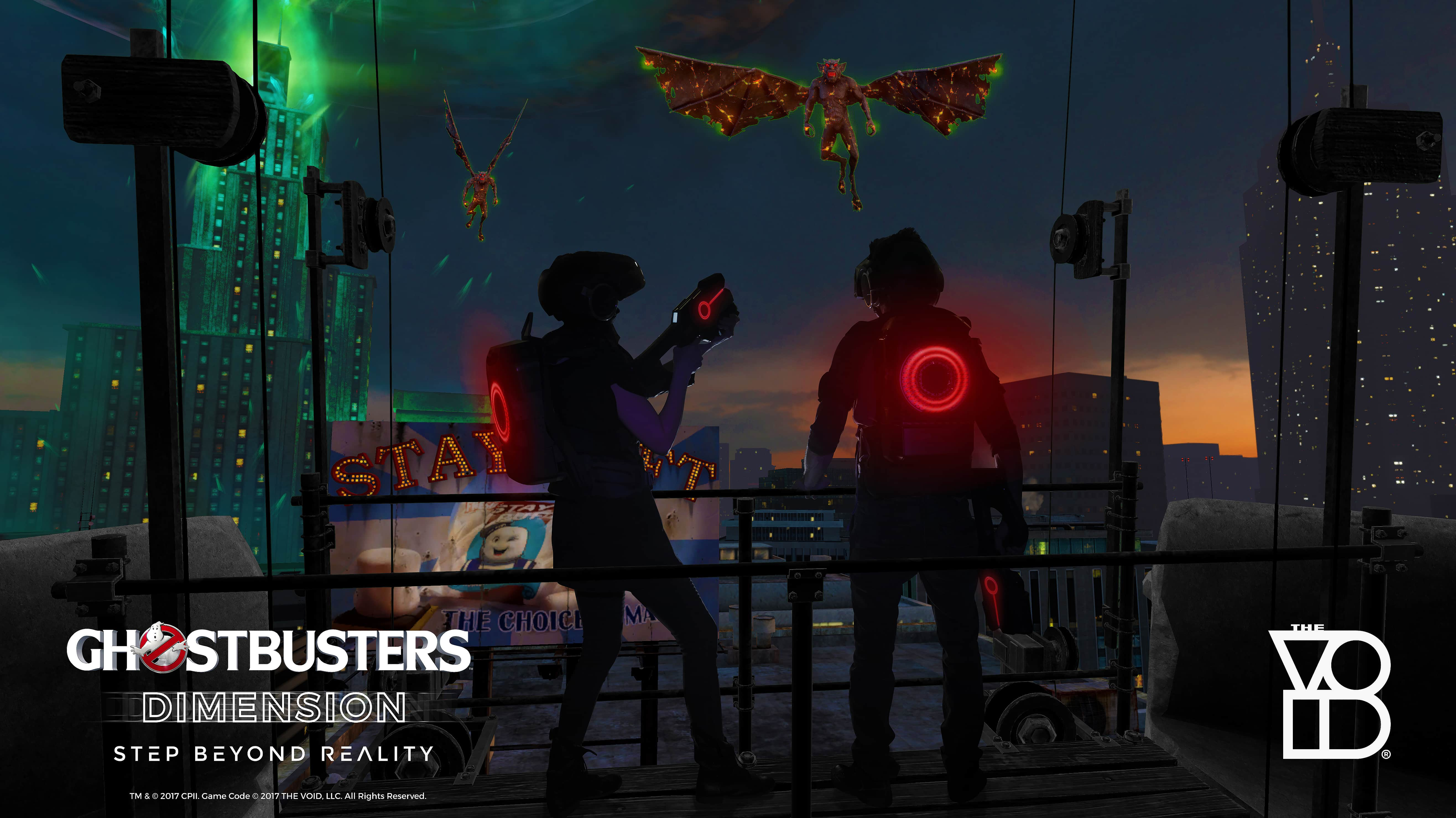 Ghostbusters Dimension VOID Toronto Shooting Gargoyles | Geek Life: Augmenting Reality