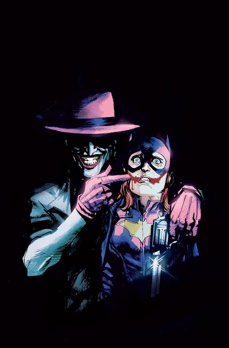 Joker Batgirl Comic Cover Celebrating 75 Years of Joker