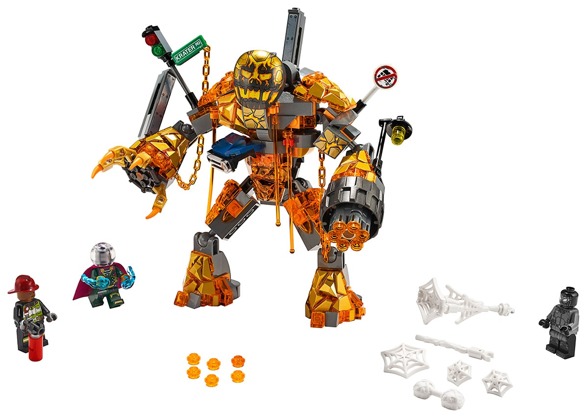 LEGO Spider-Man Far From Home Molten Man Battle 76128 individual pieces
