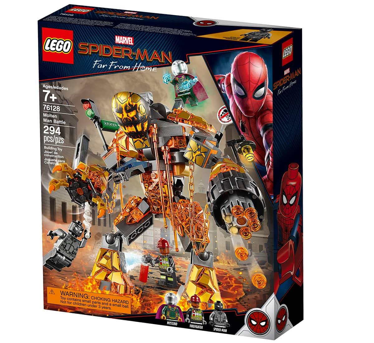 LEGO Spider-Man Far From Home Molten Man Battle 76128
