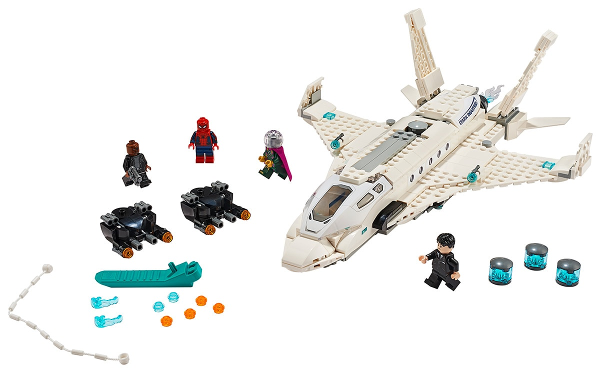 LEGO Spider-Man Stark Jet and Drone Attack pieces