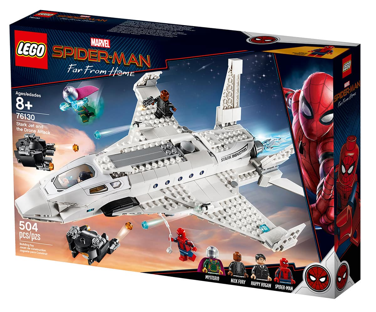 LEGO Spider-Man Stark Jet and Drone Attack
