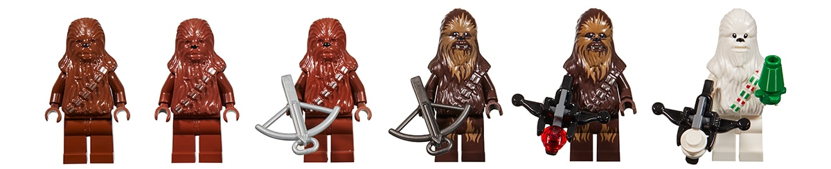 LEGO Star Wars Chewie Throughout the Years
