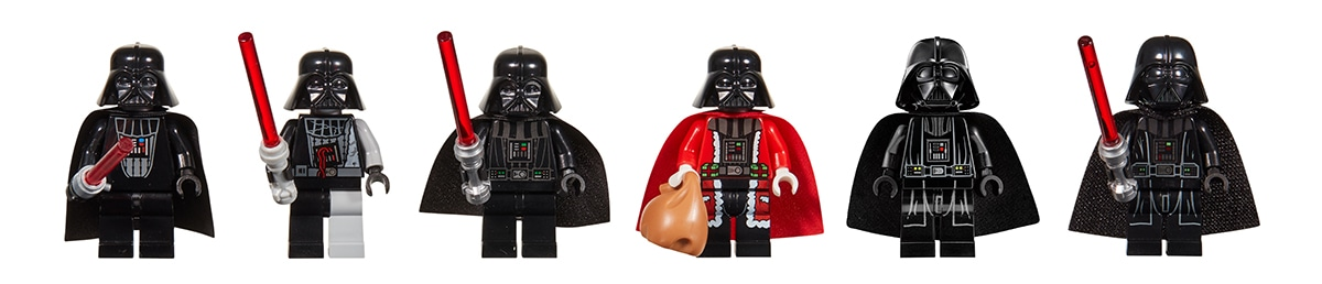 LEGO Star Wars Darth Vader Throughout the Years