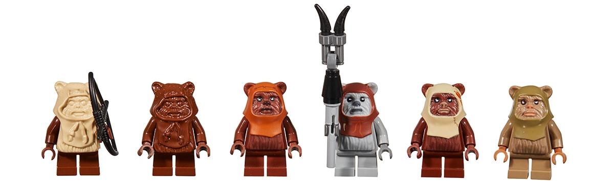 LEGO Star Wars Ewoks Throughout the Years