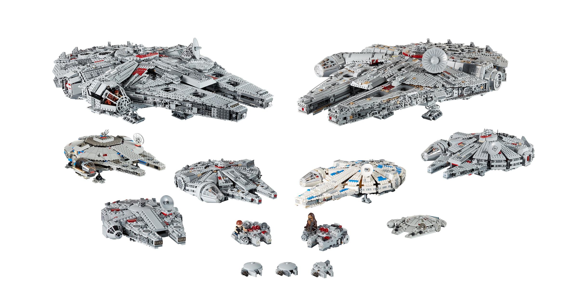 LEGO® Star Wars™ Millennium Falcons™ Through the Years