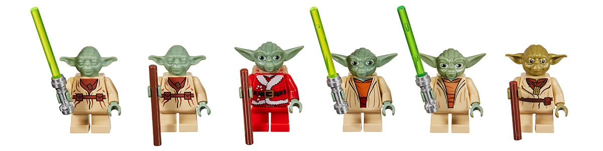 LEGO Star Wars Yoda Throughout the Years