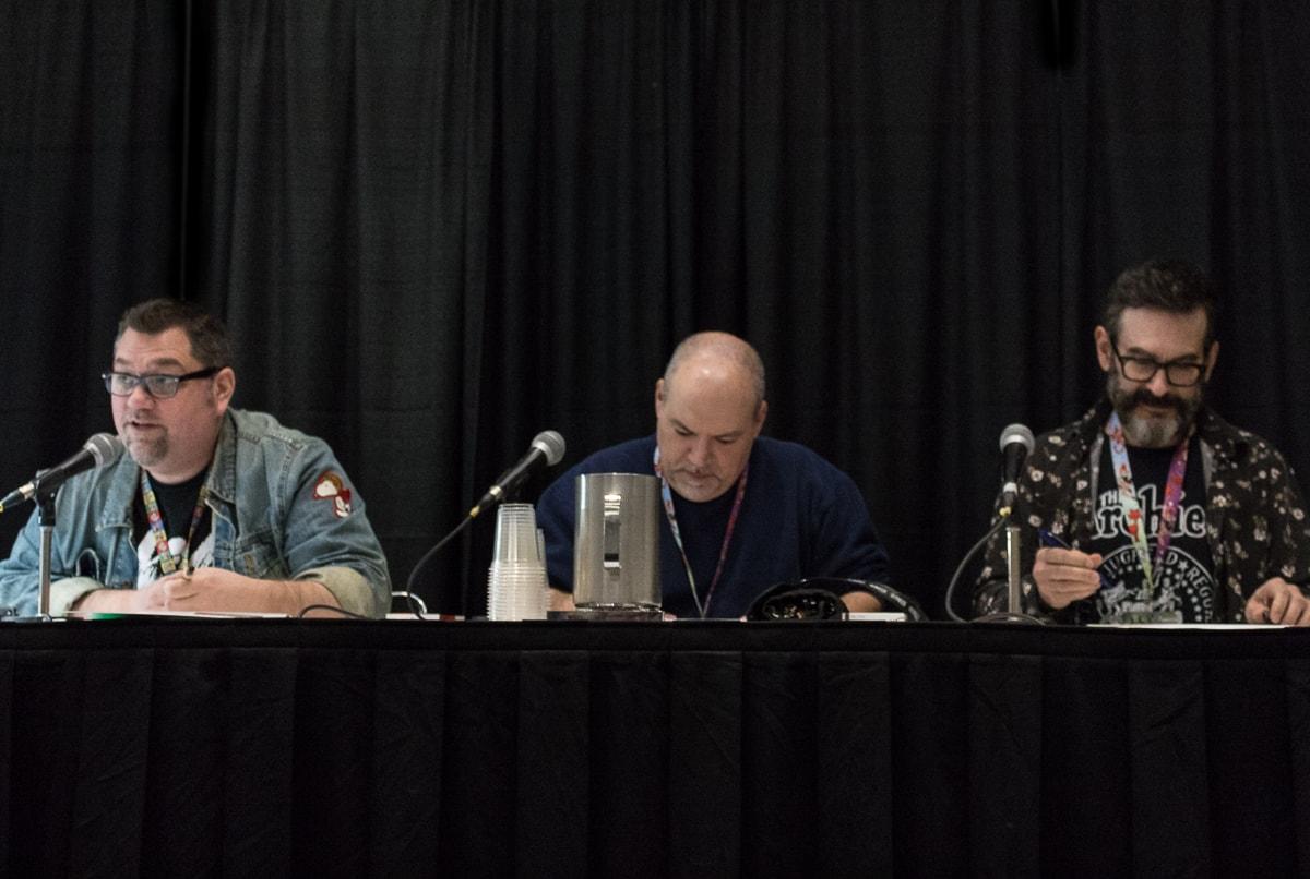 Jay Fosgitt, Fernando Ruiz, Dan Parent at Toronto Comicon 2018