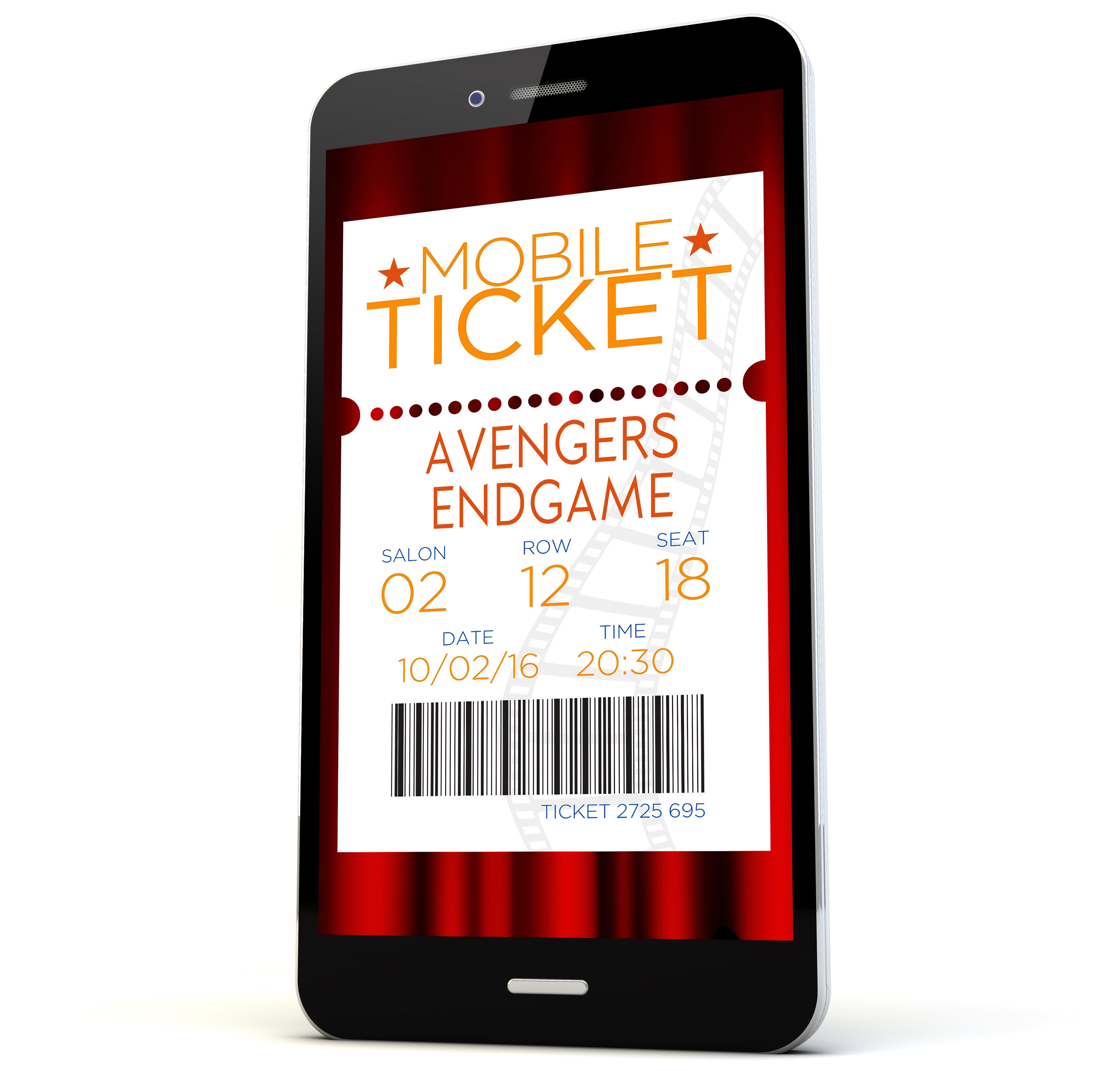Mobile Ticket for Avengers Endgame