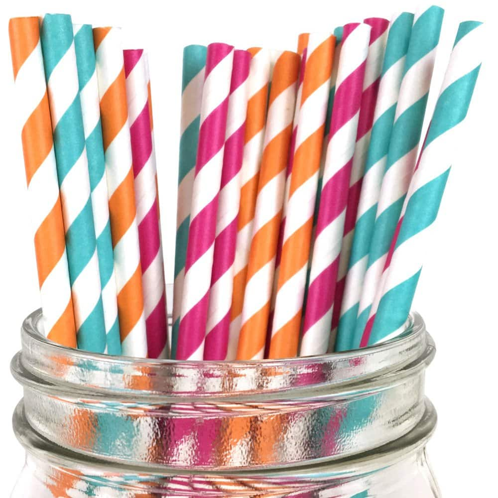 Paper drinking straws are much better than plastic.
