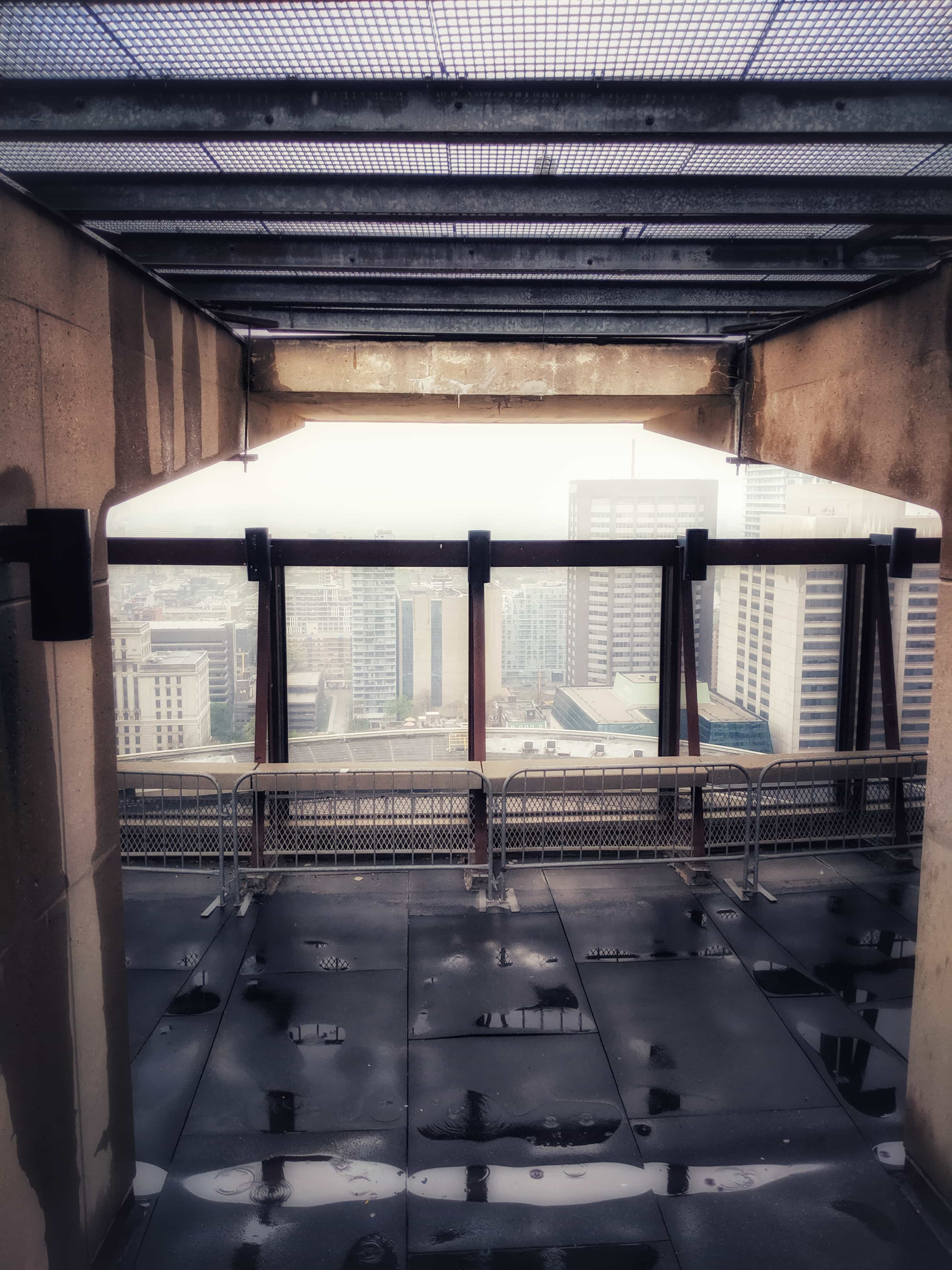 The rarely-open observation deck near the top of City Hall in Toronto.
