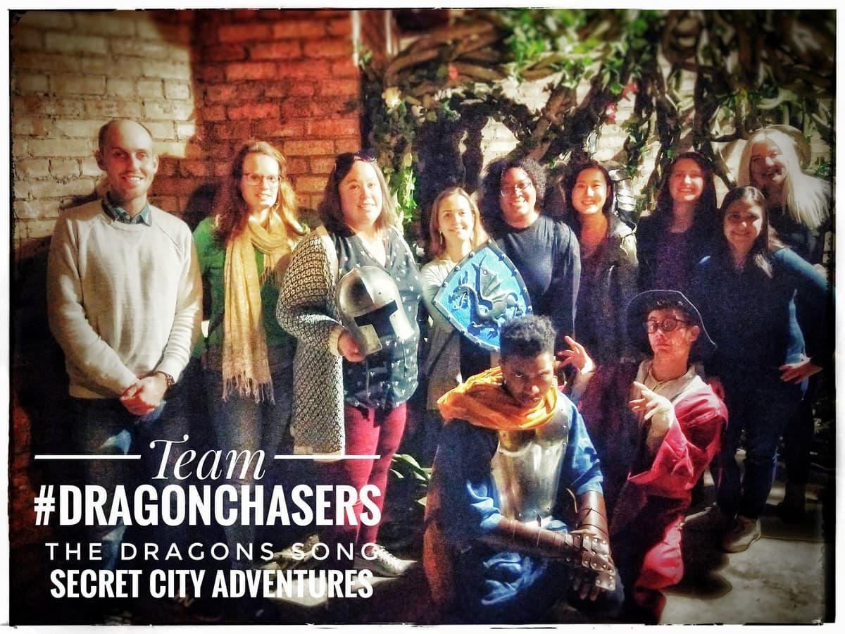 Team Dragon Chasers at Casa Loma